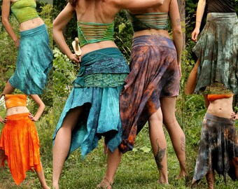 CUSTOM LISTING for bamboo pixie skirt in your choice of colors and size