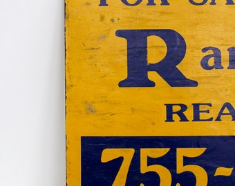Vintage advertisement double sided sign