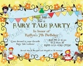 Custom Printable Party Invitation - Print Your Own Fairy Tale - Birthday - Costume - Party Invitation