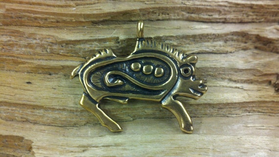 Bronze Viking age zoomorphic Boar pendant