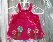 Upcycled - Recycled dress/ jean dress / 18 month. This item is sold out.