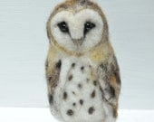 Needle Felted Owl -  Needle Felted Animal looks so real measures 9.5cm/4""