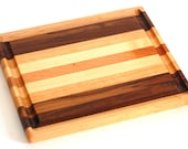 Small multi-wood Cutting board with Juice groove