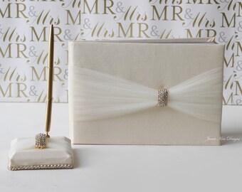 Wedding Guestbook,& Pen Set- Custom Made