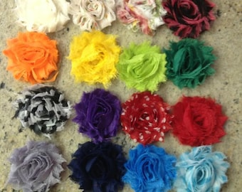 Set of 10- Shabby Chic - Womens/Baby/Girls Hair-clip- Free ship- Attached to an alligator clip -You Choose Color -34 Colors