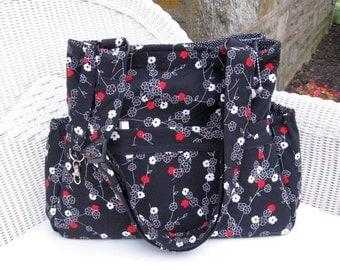 Zoey CUSTOM Diaper Bag & Changing Pad  / Cross Body Bag