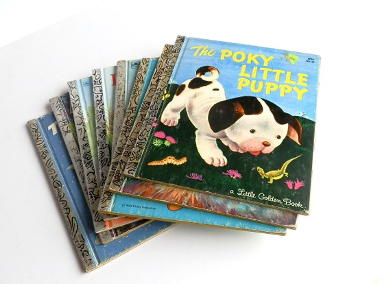 Set of Eight Little Golden Books Illustrated Alice in Wonderland Mickey Mouse