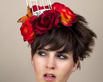 Birdcage Crown Fascinator