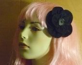 Custom Listing for Louise - Black Felt Hair Flower