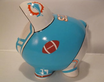 Football team piggy bank, Personalized, Handpainted, Football Piggy  Banks - Large - MADE TO ORDER