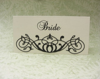 Escort cards.The Layla Collection Luxury Name Place Settings  Set of 30