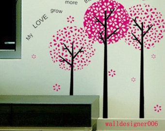 wall decal wall decor wall sticker wall  Art mural  -Pandora Tree for