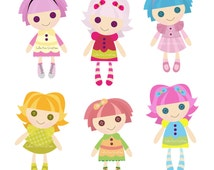 Rag Doll Digital Clipart - Clip Art for Commercial and Personal Use