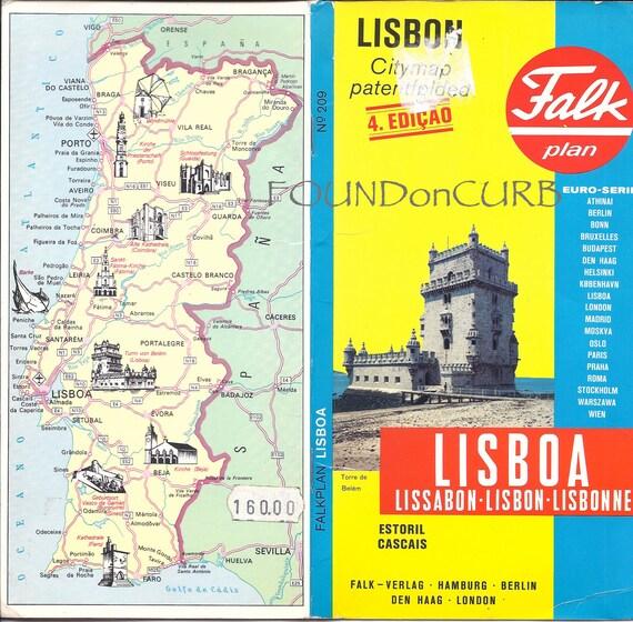 Falk Map of Lisbon, Portugal