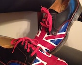 Dr. Martens Union Jack Oxfords British Flag UK 6 US W 8  M 6.5