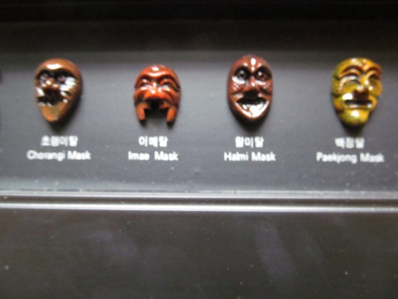 Korean Cultural Assets Exorcism Mask Play Important Traditional Ceremony Objects from Korea