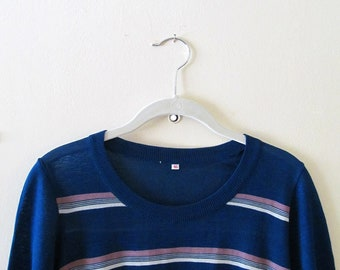 Striped Short Sleeve Top S M 36 Bust