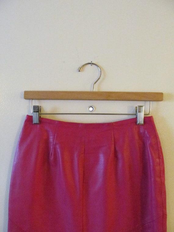 Leather Pencil Skirt S 26 Waist
