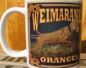 Weimaraner Crate Label Coffee Mug