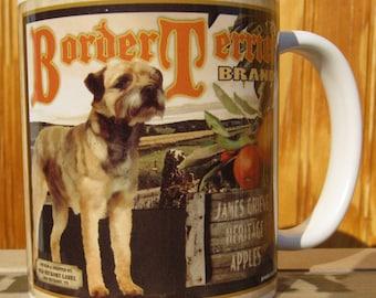 BorderTerrier Crate Label Coffee Mug
