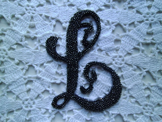 """Vintage """"L"""" Trim with Glass Beads"""