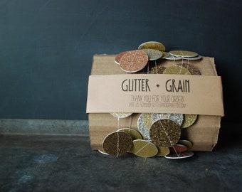 6' Mixed Gold Glitter Garland