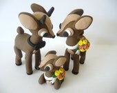 Deer With Fawn Wedding Cake Topper - Choose Your Colors