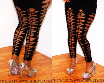 Spring Fashion Summer  Party  Leggings Womens  Shredded  Tights
