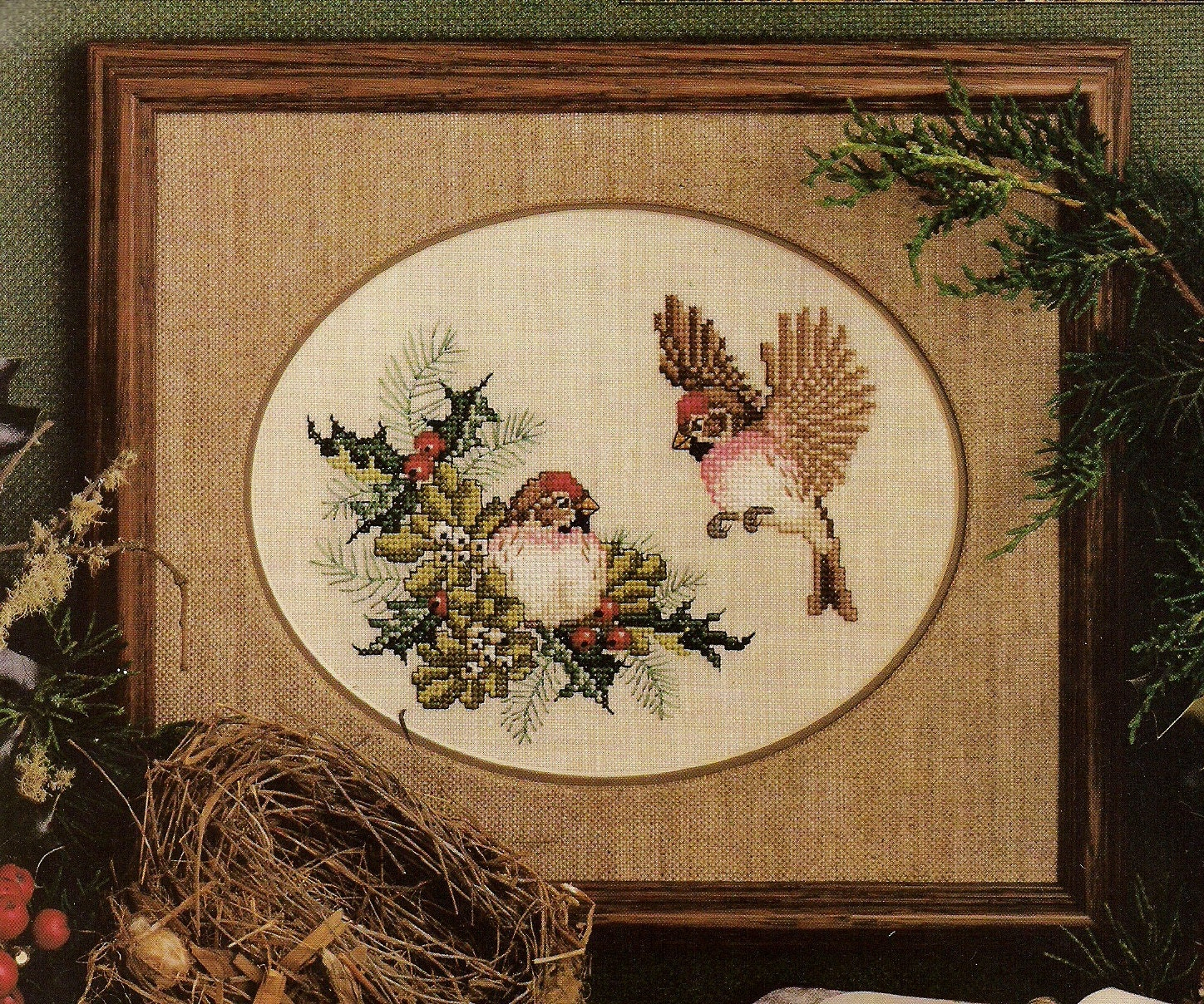 Cross stitch patterns cross stitch magazine christmas wine for Country living magazine cross stitch