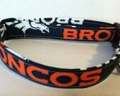 Denver Broncos dog collar..... Your choice of size