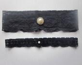 Bridal Garter Set - Navy Blue Garter Set -The Original Simply Chic Garter