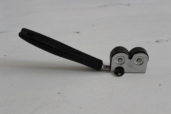 Vintage Ecko Brand Knife Sharpener Black Plastic Handle