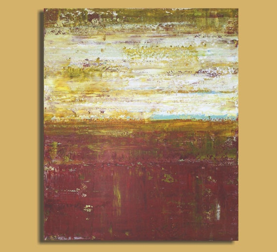 Abstract Landscape Painting - Glimmer (20x24) Original