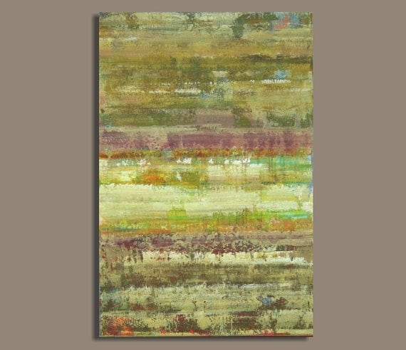 Large Abstract Painting Neutrals Earthtones (24x36) Wall Decor