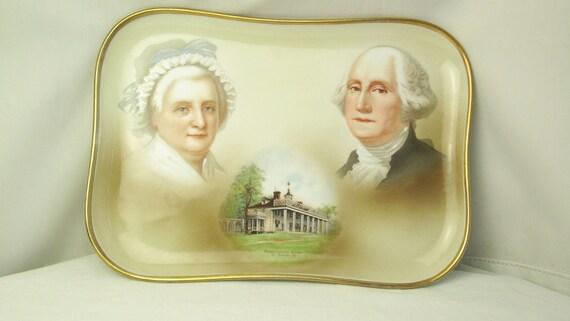 Antique George and Martha Washington Hand Painted T&V Limoges PLATTER on Etsy