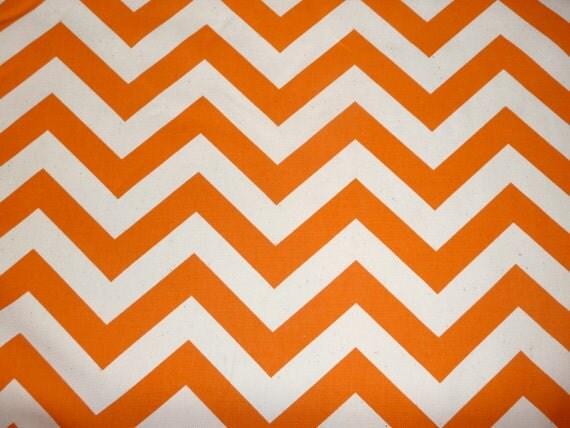 Ready to Ship:Orange Chevron Contour Changing Pad Cover