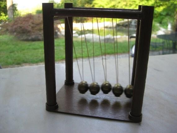 Vintage Newton's Cradle Office Toy