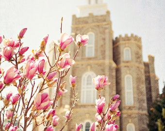 INSTANT DOWNLOAD Heavenly - Logan LDS Temple, fine art print home decor Logan temple instant