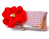 Clutch, Foldover Red, White, Blue