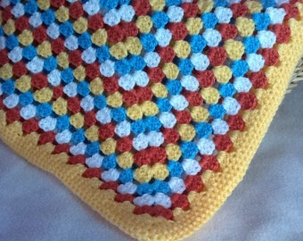 Colorfull granny square baby blanket
