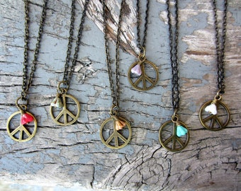 No. 50 Peace Flower Charm Necklace