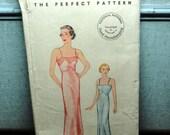 Vintage 1930s Lingerie Slip Pattern Pictorial Pattern Bust 34