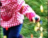 Running In The Rain - Blur Motion Child Portrait - Fine Art Photography 5x7