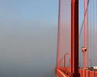 Detail of Golden Gate Bridge, Lantern and Wires, Travel 5x7 IN STOCK