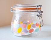 Glass Jelly Bean Jar by ARC of France Container Canning Jar Storage