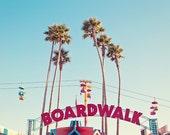 Carnival Photography, Santa Cruz Beach Boardwalk Photograph, Kids Room Decor, Colorful Retro Summer Fun Art Print - Boardwalk