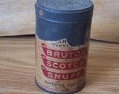 Antique snuff can, Bruton Scotch snuff..