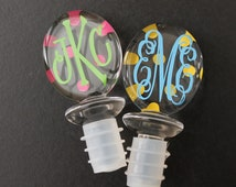 Personalized/Monogram Oval Wine Stopper--Assorted Designs