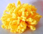Sunny Yellow Crochet Loofah Exfoliating Cotton Wash Cloth Poof Shower Bath
