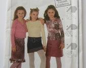 Burda 9816, Burda easy girls sewing pattern, long sleeved top, T shirt, wrap shirt, stretch fabric, multisized, size 7 - 12 unused and uncut